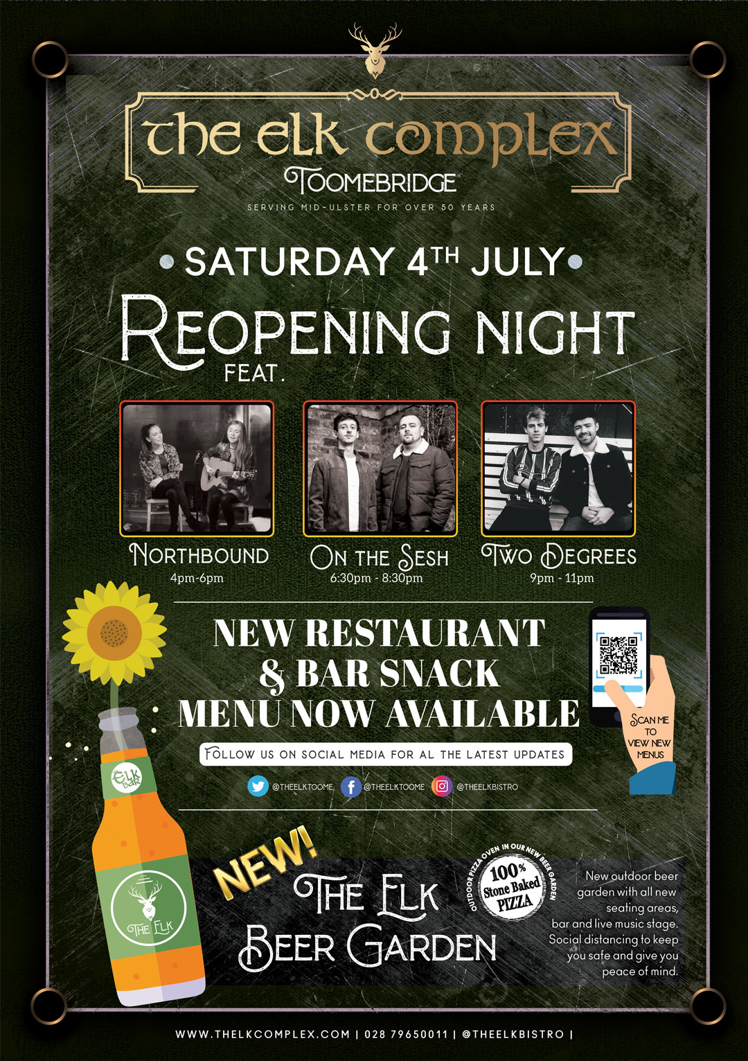Reopening Night at The Elk Toomebridge